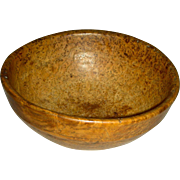 "Small (7 ¾"") American Ash Burl Bowl, 19th century"