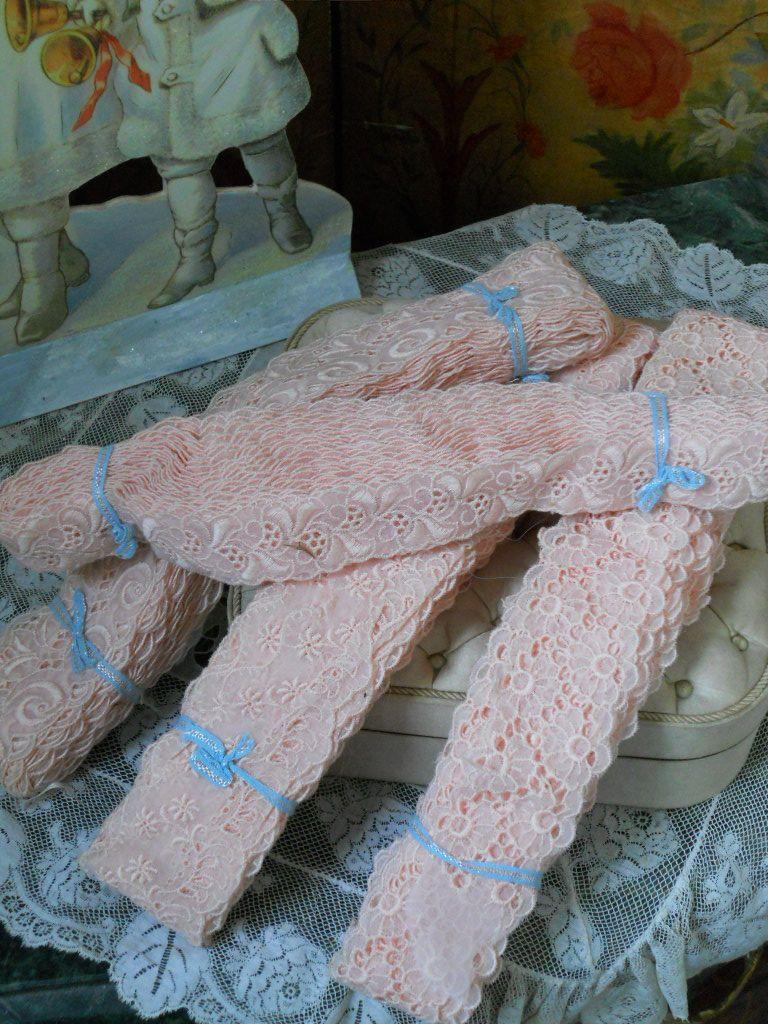 ~~~Beautiful  Rose Organza Lace Lot ~~~