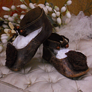 ~~~ Fine French Leather Shoes / 1880 ~~~
