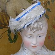 ~~~ Wonderful Rare French Poupee Hat / 1870 ~~~