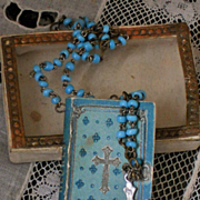~~~ Rare Little Book & Rosary from Mlle. Lily Trousseau ~~~