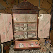 "~~~Rare Bebe´s Wooden ""  Petite Armoire "" from Paris Doll Shop ~~~"