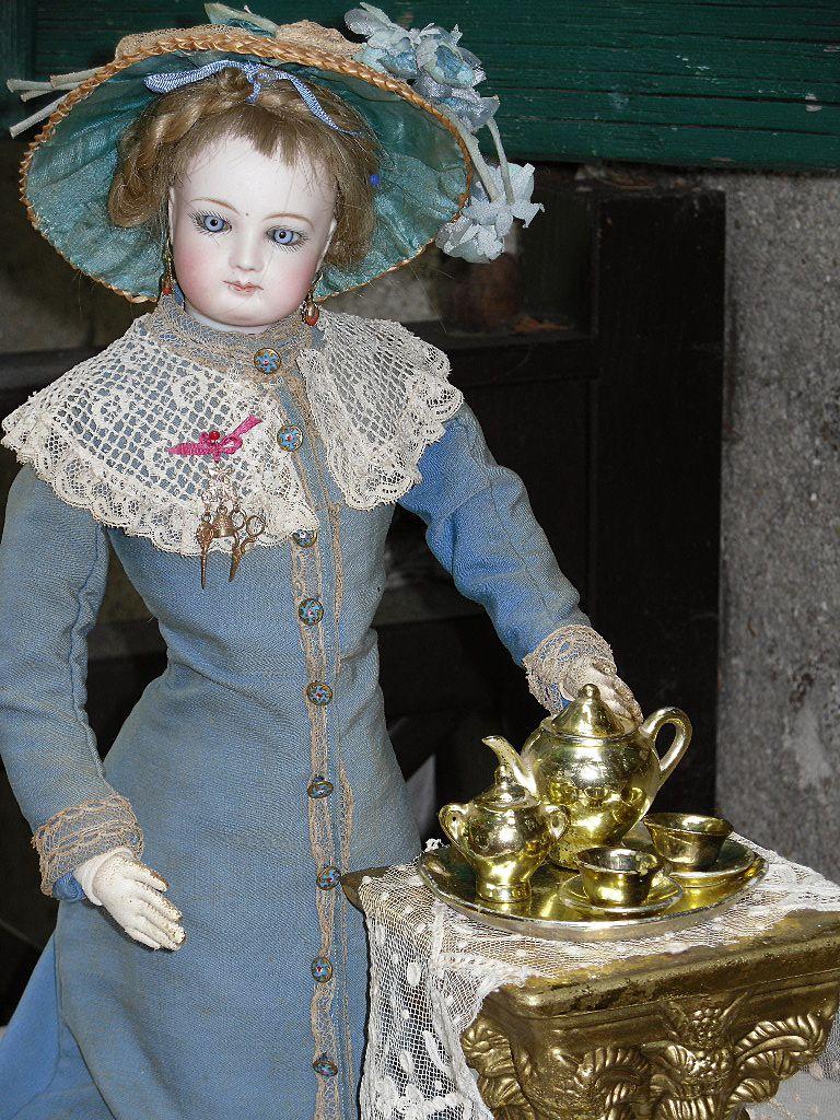 ~~~ Small Golden Tea-Service for Fashion or small Bebe ~~~