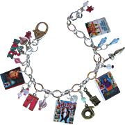 Classic Dance Movies Charm Bracelet with Unique Charms - Swarovski Crystals - Tiny DVDs - ...
