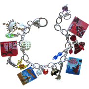 Classic Broadway Musicals Charm Bracelet with Tiny Posters – Unique Charms – Swarovski ...