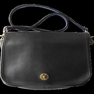 Vintage Coach Black Leather Handbag – New York City Bag from Original Coach Factory