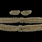 SALE Hattie Carnegie Necklace, Bracelet and Earrings.  C. 1940.