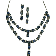 SALE Kyanite & Sterling Necklace & Earrings.