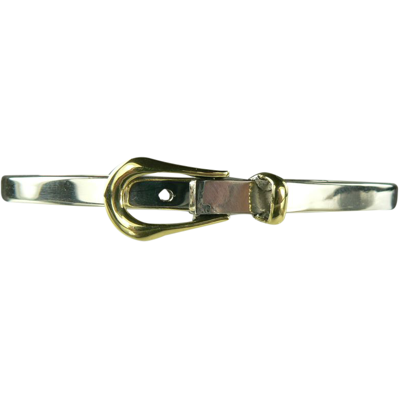 Sterling Buckle Bangle Bracelet.