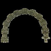 SALE Marcasite Link Bracelet-Sterling.