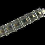 2 Tone Sterling Panel Bracelet.