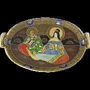 SALE 1930 Japan Tashiro Shoten Hand Painted Tray