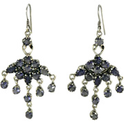 SALE Chandelier  Iolite & Sterling Earrings.
