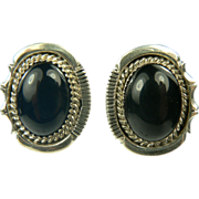 SALE Sterling Black Onyx Earrings~Pierced.