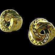 SALE Love Knot 14k Gold Earrings.