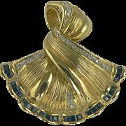 SALE 14k Sapphire & Diamond Pendant/Brooch.