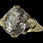 SALE Pink Kunzite Ring - 14k Yellow Gold, Size 7.