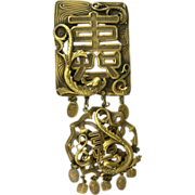 SALE Asian Inspired Brooch~Created by Joseff of Hollywood.