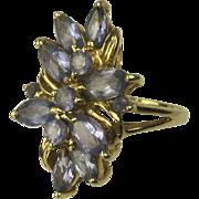 SALE Outstanding 14k Tanzanite Ring, Size 7.