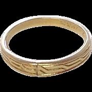 SALE PENDING Vintage c1930 10K Baby Ring ~ Ribbed Design