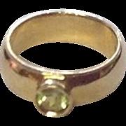 Vintage 10K Gold Baby Ring w/ Peridot Gemstone