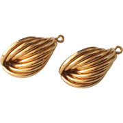 SOLD ON HOLD FOR CAROL Classic 14K Yellow Gold Earring Jacket Enhancers for Post Earrings