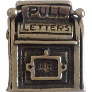 Vintage Nostalgic US Mail Drop Box Sterling Silver Charm ~ Movable