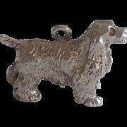 SALE Vintage Sterling Silver Figural Cocker Spaniel Dog Charm