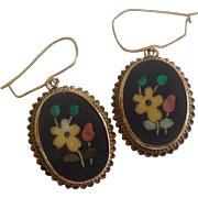 SALE Victorian Floral Petra Dura Earrings