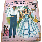 SALE Rare Original 1940 Gone With the Wind Paper Dolls Merrill Uncut