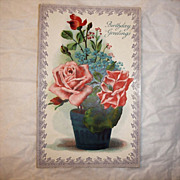 Vintage Postcard - Birthday Greetings