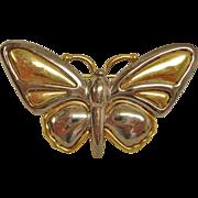 Vintage Silver and Gold Tones Butterfly Brooch by Liz Claiborne - Vintage Liz Claiborne Jewelr