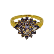 Vintage Tanzanite 14K Yellow Gold Ring  - SIZE 8