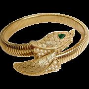 SALE Vintage TRIFARI Snake Bracelet – Vintage Trifari Snake Jewelry - Vintage Serpent Jewelr
