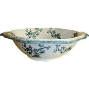 "Antique WH Grindley Transferware  Bowl - Doreen Pattern - 18"" Wash Bowl - Staffordshire, England"