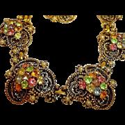 Vintage Florenza Parure - Necklace Bracelet and Earrings Set – Vintage Florenza Rhinestone J