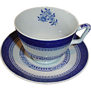 Vintage Copeland Spode Cup and Saucer - Old Bedford Pattern BLUE London Shape