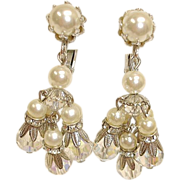 Vintage VENDOME Dangle Drop Earrings - Chandelier Earrings By Vendome Jewelry