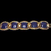 SALE Vintage NAPIER Chunky Blue Link Bracelet