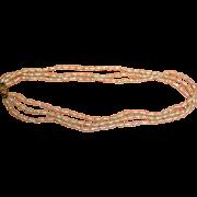 "SALE Vintage 14K Gold 3 Strand Freshwater Pearl Necklace - 8.6 mm - 16 3/8"" Long"
