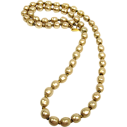 "Vintage Miriam Haskell Faux Baroque Pearl Necklace - 26"" Long"