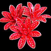 Vintage Red Polka Dot Brooch