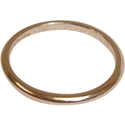 Vintage Platinum Wedding Band  Ring– Size 4-3/4