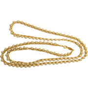 """Vintage NAPIER Gold Tone and Glass Pearl 30"""" Necklace - Vintage NAPIER Jewelry"""