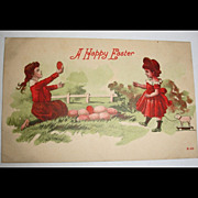 Vintage  Easter Holiday Greetings Postcard - Antique Post Card