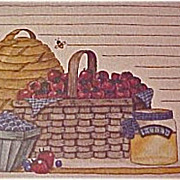 Vintage Recipe Cards by Deb Strain - Old Card Stock -   Baskets