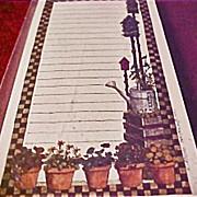 Deb Strain - Vintage Notepad  - Gardening Note Pad List