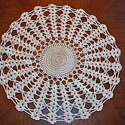 "Vintage Hand Stitched Crochet Doilie Doily - 12 1/2"""