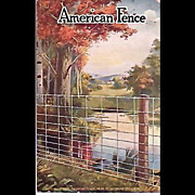 Early 1900's Advertising Postcard - American Steel & Wire Co.- Vermontville Michigan