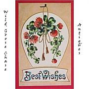 Vintage Best Wishes Greeting Postcard